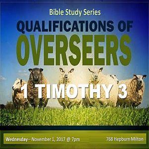 RECAP – Wednesday 2017-11-01 Bible Study