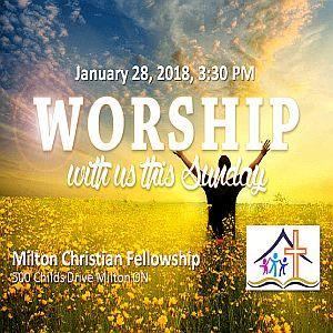 RECAP – Sunday 2018-01-28 Worship Service