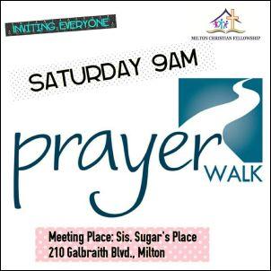 RECAP – Saturday 2018-08-11 Prayer Walk activity