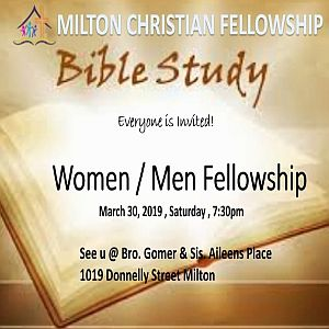 RECAP – Saturday 2019-03-29 Fellowship
